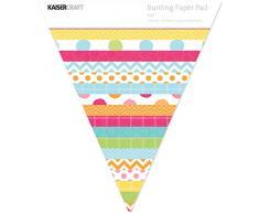Kaiser Craft Pop. Wimpelkette Papier Pad