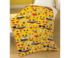 Emoji Fleece Decke, gelb