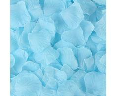 Rebecca Online Plastikbeutel Seide Rosenblätter Künstliche Blumen Hochzeit Party Vase Decor Bridal Dusche Favor Aufsteller Konfetti Light Blue-19