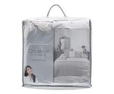 Douceur dIntérieur Tagesdecke für Doppelbett. Matratze, 220 x 240 cm, Mikrofaser, Dune Pompons