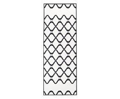 Vallila CM000893-02 Keitele Gedruckt Läufer, Polyester, schwarz, 80 x 230 cm