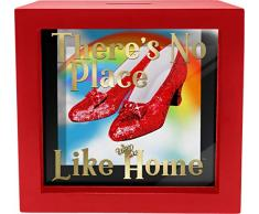Spoontiques Ruby Slippers Shadowbox Bank, Rot