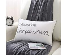 Sanmetex Muttertagsüberwurf, dekorative Kissenbezüge für Nana/Oma Mutter Sofa Couch Stuhl Büro Auto 12 x 20 30 * 50 Nana