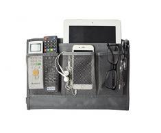 oxe Nachttisch Lagerung Organizer, hängende Aufbewahrung für, Tablet, Handy, Magazin, Zubehör und TV Fernbedienung Grau