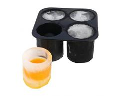 EiswŸrfelform Patronen Titanic Schnapsglas Gehirn AK47 Patronen Fledermaus Schnurbart Eisformen 100% Lebensmittelechtes Silikon Crushed ICE Cocktail Bar (Grš§e: 12,5 cm Lang x 12,5 cm, 90008-9012-000)