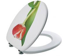 SANIPLAST Tulpe WC Sitz, Holz, mehrfarbig, 45Â x 37Â x 5Â cm