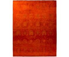 Solo Rugs Vibrance Handgeknüpfter Läufer One of a Kind, handgeknüpfter Teppich 8 0 x 10 0 rot