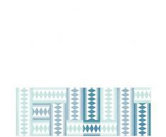 Laroom 14170-Teppich Bollato Küche Fliesen 140cm, türkis