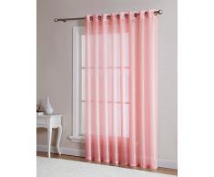 DecoSource Fenstervorhänge für Schlafzimmer, Wohnzimmer, Küche, Kinderzimmer, Outdoor, strapazierfähiges Polyester, 2 Stück 1 Patio Panel 102 W x 84 L Rose