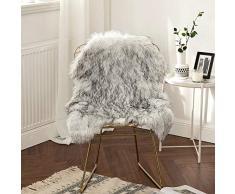 MIULEE Super weicher Flauschiger Teppich Kunstfell-Teppich Dekorativer Plüsch Zottelteppich für Nachttisch, Sofa, Boden, Kinderzimmer 2 x 3 ft Sheepskin Gradient