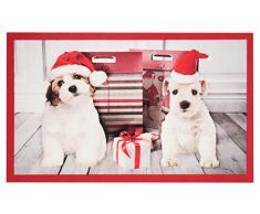 Hanse Home Fußmatte Schmutzfangmatte Weihnachtshunde Rot, 45x75 cm