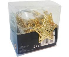 Gardman 18574 Lichterkette 10 starformige LEDs, Plastik, Gold,