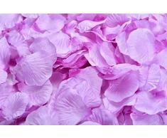 Lothringen Hochzeit Tisch Dekoration Seide Rosenblätter Blumen Konfetti violett