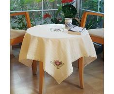 Secret Handgefertigt Tee Oder Kaffee Tisch Tischdecke, 91,4 x 91,4 cm Quadratisch (90 x 90 cm), Tisch Rund Tischdecke Purple Rose
