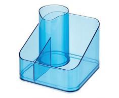 InterDesign 38781EU Clarity Haarstylingprodukte-Halter, Halter für Fön für Badezimmer Waschtisch, Plastik, ozeanblau, 16.5 x 16.5 x 14.6 cm