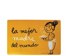 LAROOM 13739–Individuelle Tisch die beste Mutter der Welt, Orange