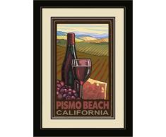 Northwest Art Mall pal-6388 fgdm WC Pismo Beach California Wine Country von Art Wand von Künstler Paul A. lanquist, 40,6 x 55,9 cm