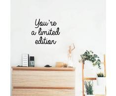 Wandaufkleber aus Vinyl, Aufschrift Youre A Limited Edition, 43,2 x 48,3 cm, modernes inspirierendes Zitat für Zuhause, Schlafzimmer, Wohnzimmer, Badezimmer, Schrank, Büro, Arbeitsplatz, Dekoration