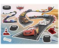 Komar Disney Deco-Sticker Cars Track | Größe: 50 x 70 cm (Breite x Höhe) | Wandtattoo, Wand, Dekoration, Aufkleber, Sticker, Kinderzimmer, Jungen - 14056h