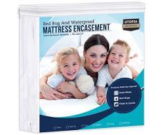 Utopia Betten Wasser und Bett Bug Proof Matratze umgreifung, Polyester-Mischgewebe, Volle Größe