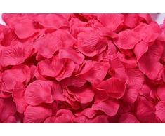 Lothringen Hochzeit Tisch Dekoration Seide Rosenblätter Blumen Konfetti shocking pink