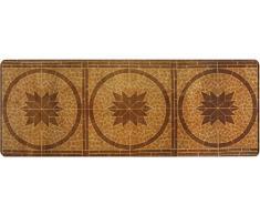 DECO-MAT Rutschfester, Waschbarer Teppich-Läufer für Eingangs-Bereich und Außen, 80 x 200 cm, braun - beige