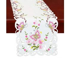 Simhomsen Spring Butterfly und Blumen Tisch Kommode, Läufer, Schal 14 by 70 inch Rose