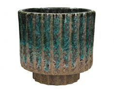 Blumentopf Keramik - blau