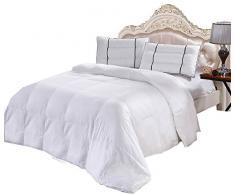 sheetsnthings Royal Hotel Collection-Box 100% Bambus Weiß Down Alternative Tröster Bettdecke Einsatz 300 Fadenzahl King Weiß