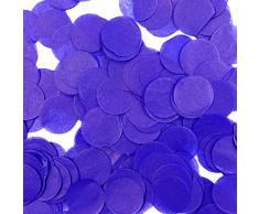 Wrapables 2,5 cm rund Gewebe Konfetti Party Dekorationen für Hochzeiten, Geburtstagsfeiern, und Duschen Violett/Blau