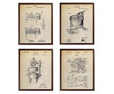 Turnip Designs TDP1017 Wäschedekoration, Wringer, Waschmaschine, Wäschetrockner