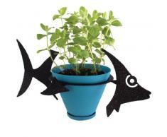 PotPals Pflanzenständer für 15,2 cm große Blumentöpfe, Schwarz, Sonnenfisch
