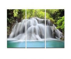 designart Huai Mae Kamin Wasserfall Fotografie Metall Wand Kunst – mt7063, 36x28