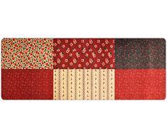 DECO-MAT Rutschfester Teppich-Läufer ohne Rand für den Innenbereich oder Eingangsbereich, 80 x 200 cm, flora / rot - grun