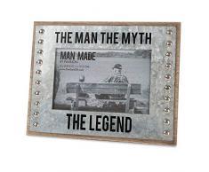 Pavillon – The Man The Myth The Legend – Holz und Metall 10,2 x 15,2 cm Bilderrahmen