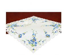 Simhomsen Spring Butterfly und Blumen Tisch Kommode, Läufer, Schal 34 by 34 inch Blau