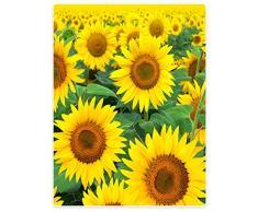 Decken Fleece Decke/Überwurf für Sofa Bett gelb Sonnenblumen, Flanell, gelb, 152 x 203 cm