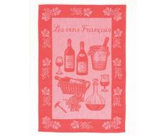 Rushbrookes French Country Les Vins Francais Geschirrtuch, Rot