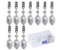 Swpeet Tischdeckengewichte mit Metallclip, Kristallglas, für Zuhause, Partys, Picknicks, Restaurants, Hochzeiten, Buffets, etc., 10 Stück Lute
