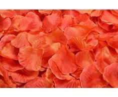 Lothringen Hochzeit Tisch Dekoration Seide Rosenblätter Blumen Konfetti Orange/Rot