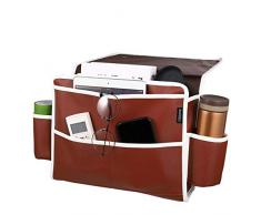 Cabilock Nachttisch-Organizer, hochwertig, Dickes Kunstleder, Nachttisch-Halter, Nachttisch, Nachttisch, Caddy für Bettgeländer, Sofa, Etagenbetten