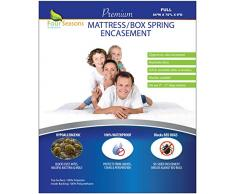 Four Seasons Essentials Matratze umgreifung, Polyester, weiß, Volle Größe