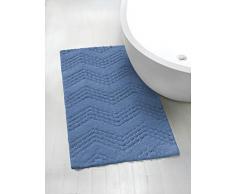 Gabel Bad-Teppiche 60 x 100 cm Kornblumenblau