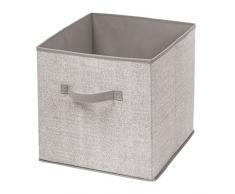 InterDesign Aldo Ordnungsbox für Spielzeug Oder Kleidung, Große Aufbewahrungsbox mit Griff aus Polypropylen, Beige