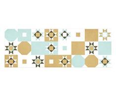 Laroom Teppich, Vinyl, mit Rutschfester PVC-Unterseite, Grün/Braun