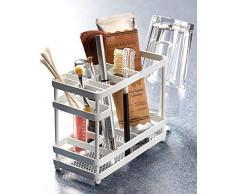 Die Lakeside Collection weiß Metall Aufsatzwaschtisch, Organizer