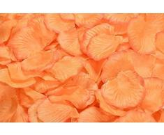 Lothringen Hochzeit Tisch Dekoration Seide Rosenblätter Blumen Konfetti hellorange