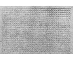 oKu-Tex Moby Design Fußmatte, Schmutzfangmatte,Relief, für außen und innen, rutschfest & robust, Grau, 50 x 80 cm
