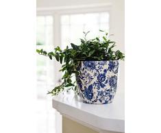 Ivyline Blumentopf, Keramik, Cremefarben/Pink/Blau, 14.5 cm