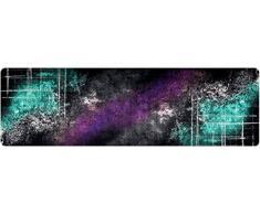 DECO-MAT Rutschfester Teppich-Läufer ohne Rand für den Innenbereich oder Eingangsbereich, 80 x 250 cm, farbspray / turkis -violett